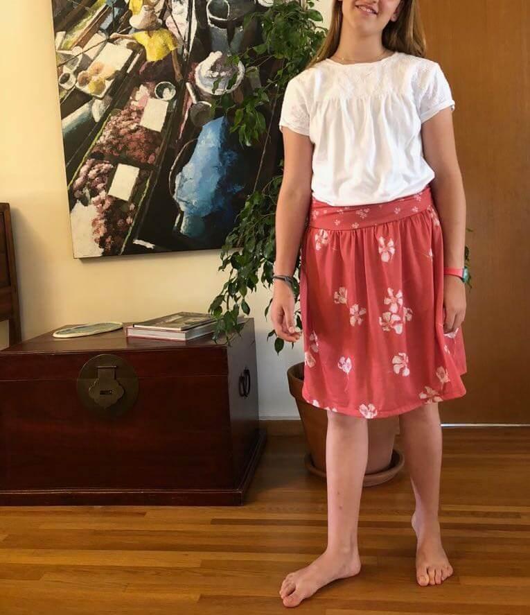 Tuto jupe jersey facile tutoriel couture sans patron patron gratuit pas-à-pas mars-elle