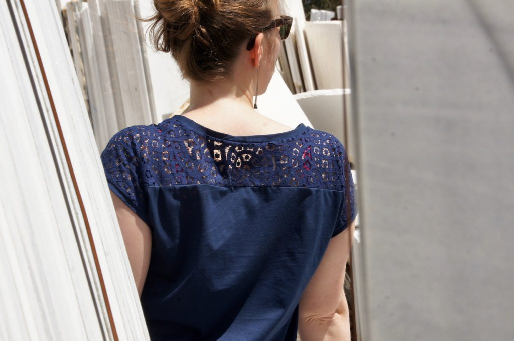top jersey dentelle couture Mars-ELLE