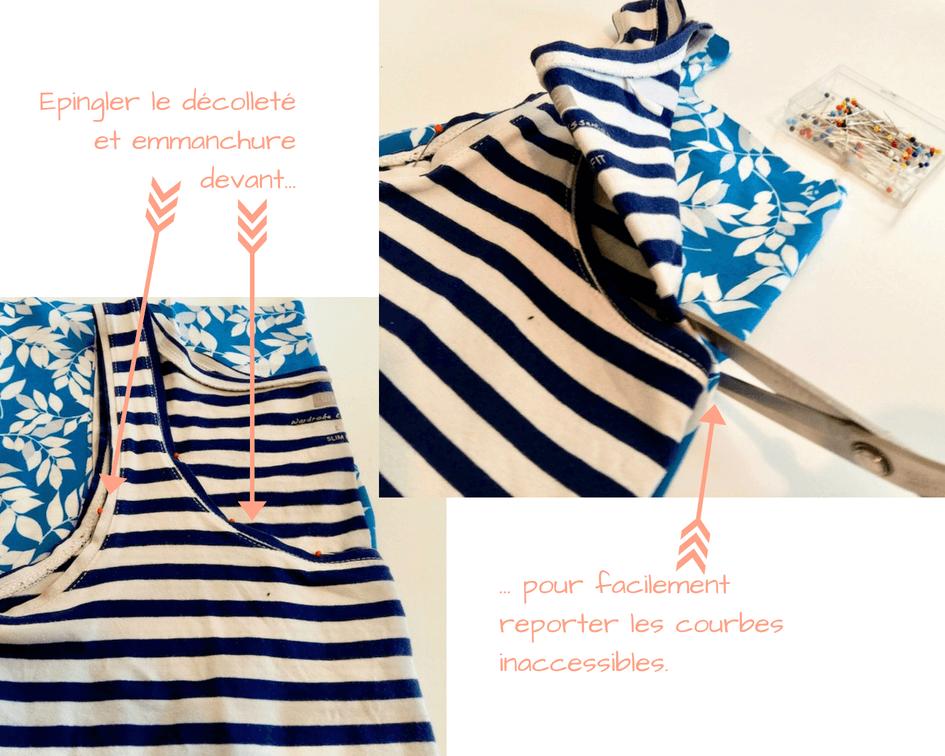 Tutoriel couture jersey débardeur facile patron gratuit mars-elle tissu bio coton tuto pas-à-pas débutant