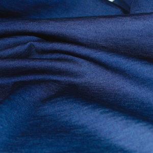 Jersey coton bio bleu marine nuit vente au mètre coton biologique couture Mars-ELLE