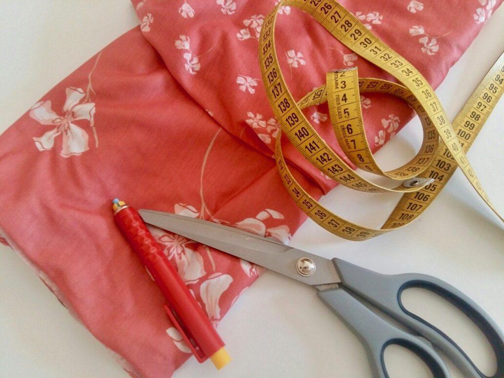 Tutoriel couture jupe jersey facile sans patron patron gratuit Mars-ELLE