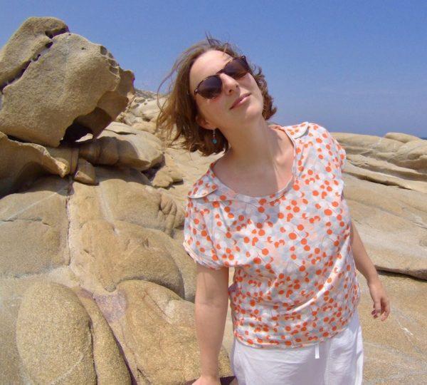 Tutoriel couture coton jersey bio biologique motif mars-ELLE débutant facile patron gratuit