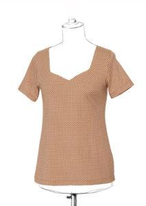 patron de couture gratuit facile débutant jersey t-shirt badiane