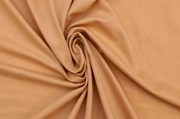 tissu bio biologique GOTS éthique durable couture au mètre mars-elle uni jersey camel