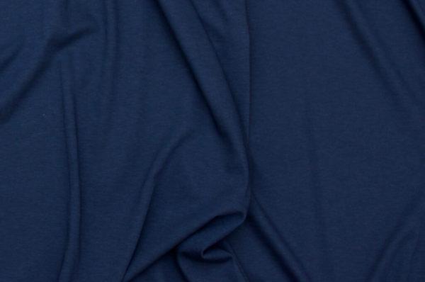 tissu bio biologique GOTS éthique durable couture au mètre mars-elle uni jersey bleu nuit bleu marine