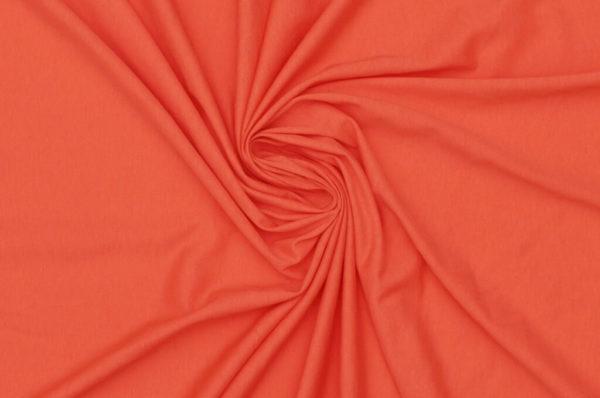 tissu bio biologique GOTS éthique durable couture au mètre mars-elle uni jersey rouge corail