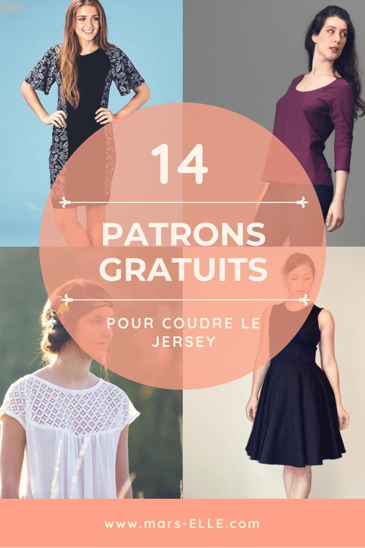 14 patron de couture gratuits débutant tutoriel jersey