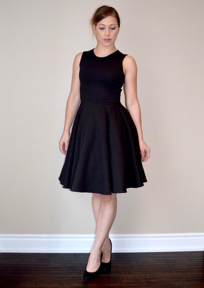 patron de couture gratuit facile débutant jersey robe noir