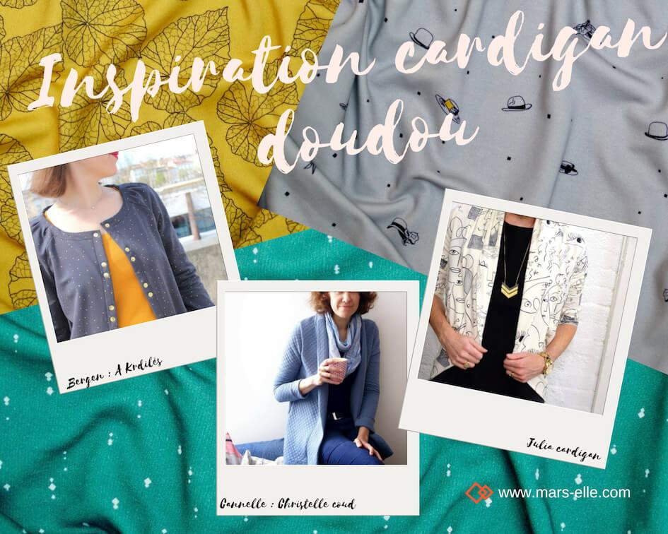 Inspiration couture avec du molleton tutoriel facile cardigan veste