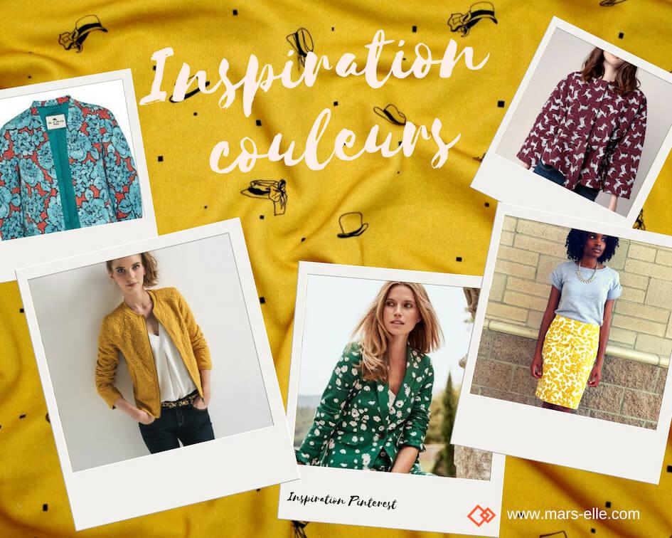 Inspiration couture avec du molleton à motif imprimé coloré