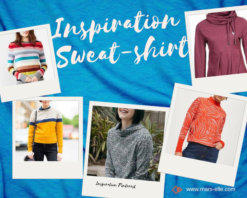 Inspiration couture avec du molleton tutoriel facile sweat