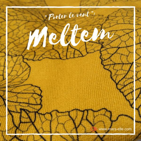 Molleton bio vendu au mètre Mars-ELLE jaune Moutarde GOTS imprimé motif