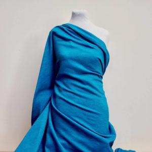 Molleton bio vendu au mètre Mars-ELLE imprimé mer turquoise bleue vendavel