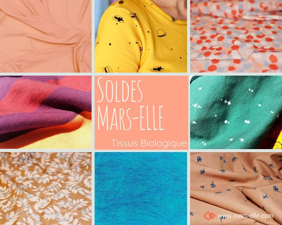 Mars-ELLE tissu biologique soldes jersey bio molleton 100% coton