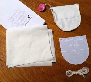 sachet de thé zéro-déchet kit DIY couture facile patron gratuit couture débutant