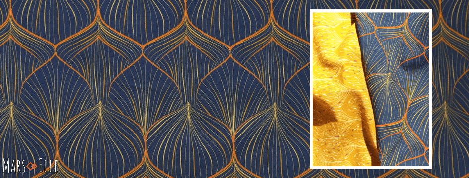 tissu bio popeline coton Mars-ELLE GOTS coton biologique couture