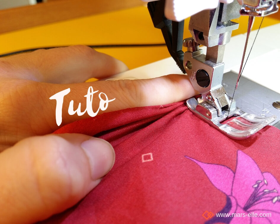 tissu bio popeline coton fleur Mars-ELLE GOTS coton biologique couture durable écologique motif imprimé fleur oiseau