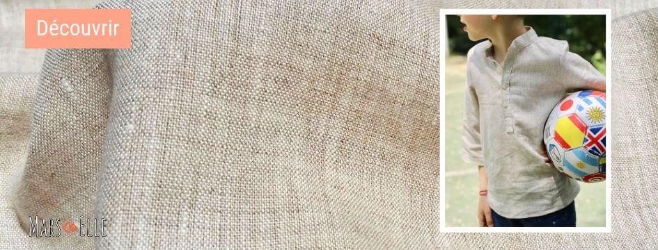 lin oekotex vendu au mètre mars-elle tissu bio naturel non teint beige écru