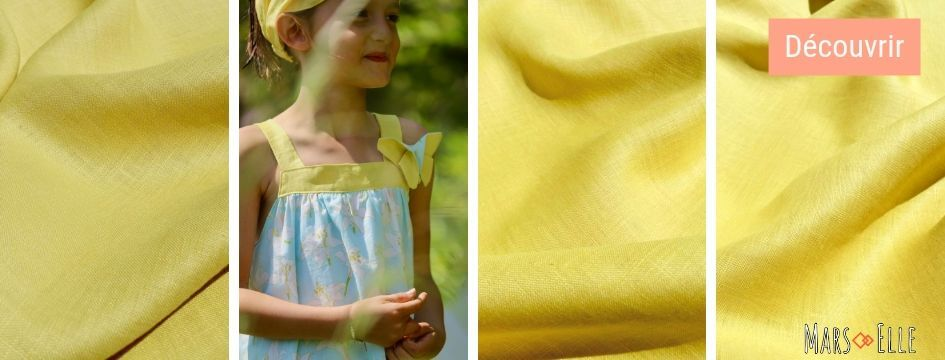 lin oekotex vendu au mètre mars-elle tissu bio naturel jaune rouge écru gris kaki