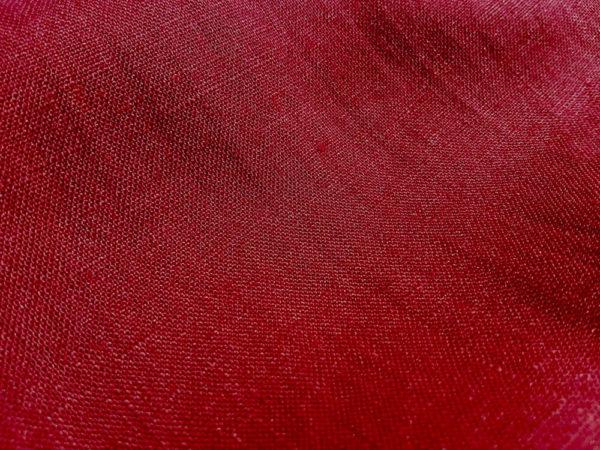 lin oekotex vendu au mètre mars-elle tissu bio bordeaux framboise