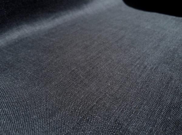 lin oekotex vendu au mètre mars-elle tissu bio noir gris foncé plomb