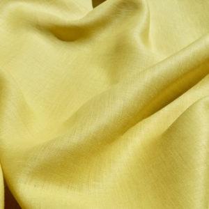 lin oekotex vendu au mètre mars-elle tissu bio jaune citron jaune moutarde