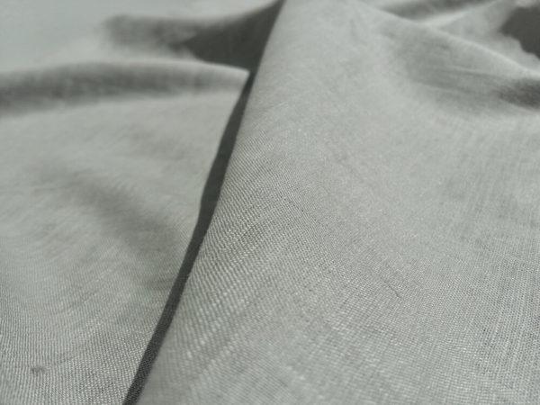 lin oekotex vendu au mètre mars-elle tissu bio kaki clair gris clair