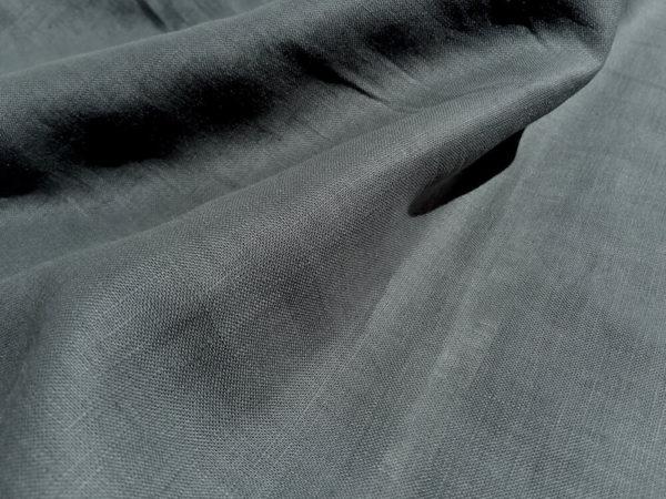 lin oekotex vendu au mètre mars-elle tissu bio kaki clair gris foncé