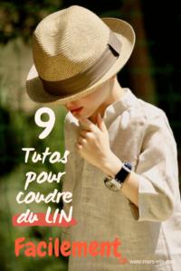 9 secrets pour coudre et entreneir facilement le Lin. lin oeko-tex vendu au mètre couture enfant tissu bio