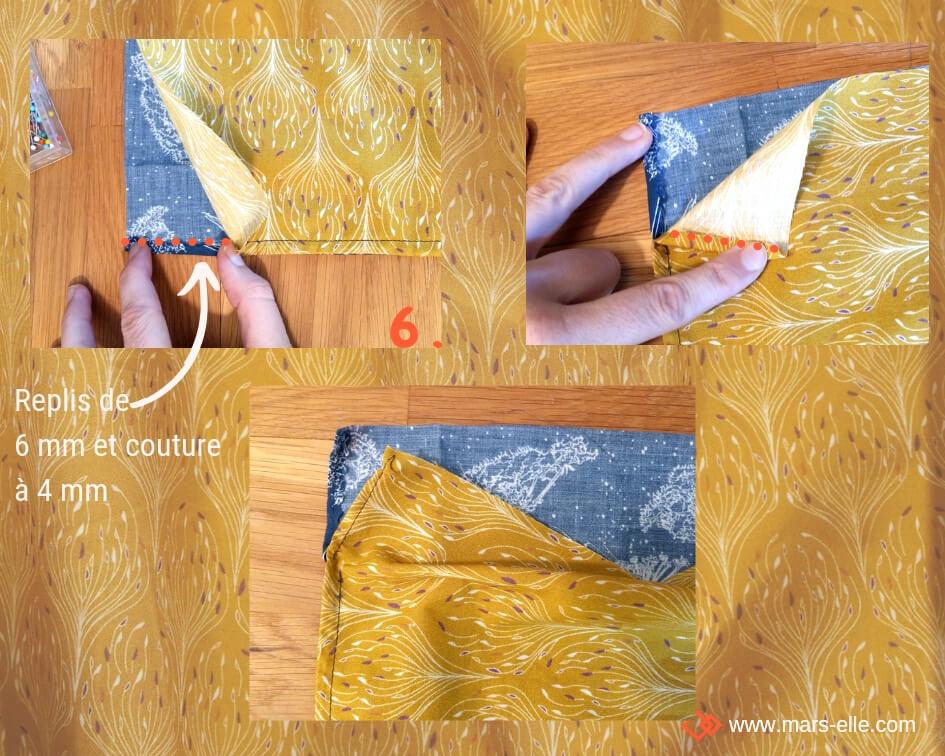tuto couture sac à vrac zéro-déchet tissu bio mars-elle tutoriel pochon débutant