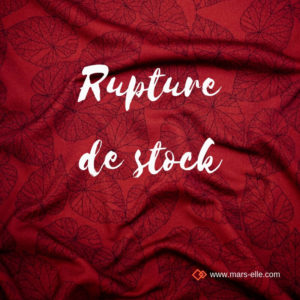 Tissu bio GOTS vendu au mètre Molleton sweat coton bio imprimé bordeaux rouge mars-ELLE
