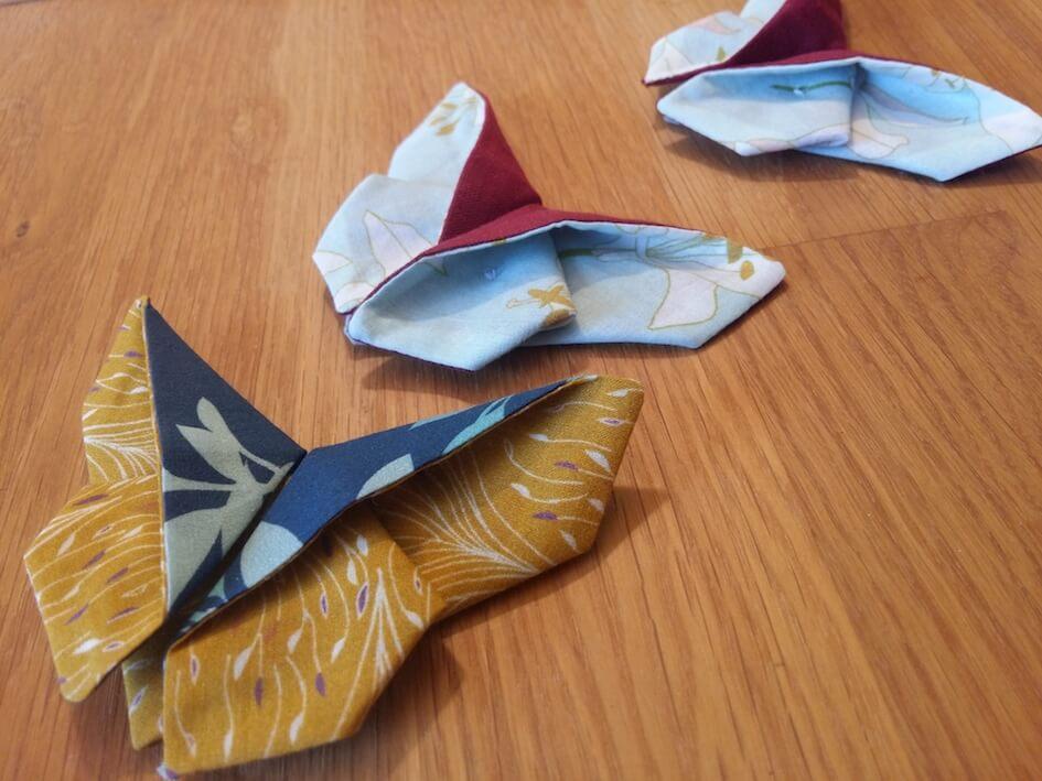 tuto couture débutant papillon origami chute de tissu bio mars-ELLE