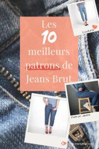 les meilleurs patrons de Jeans brut sans élasthanne denim 100% coton tissu non-stretch