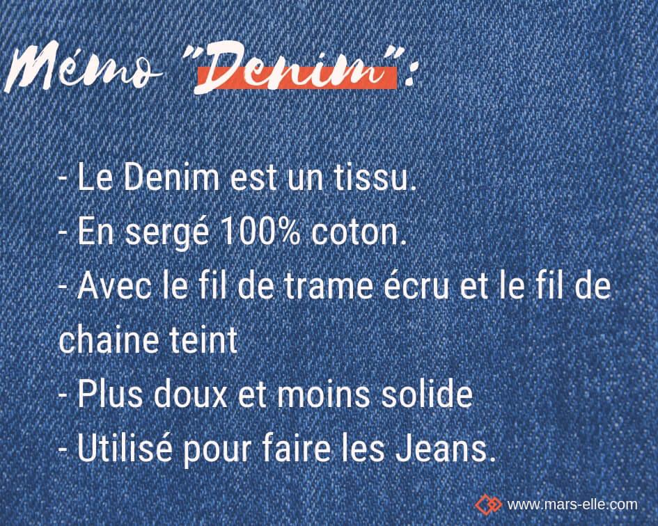 Définition Denim tissu couture tuto différence Jean Jeans Denim Mars-ELLE