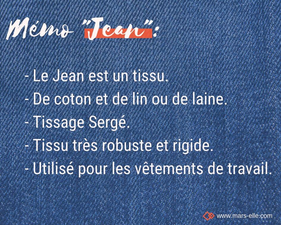 Définition Jean tissu couture tuto différence Jean Jeans Denim