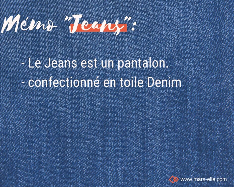 tissu couture tuto différence Jean Jeans Denim