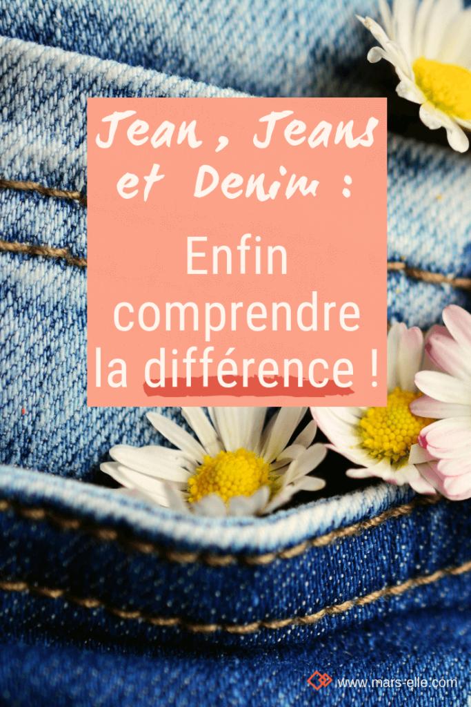Jeans Jean Denim différence et définition Mars-ELLE tissu bio