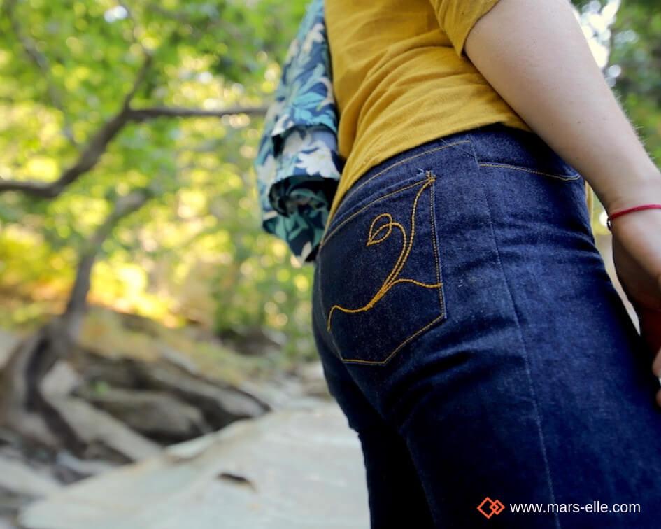 Tissu bio Jeans denim GOTS mars-ELLE coton biologique couture