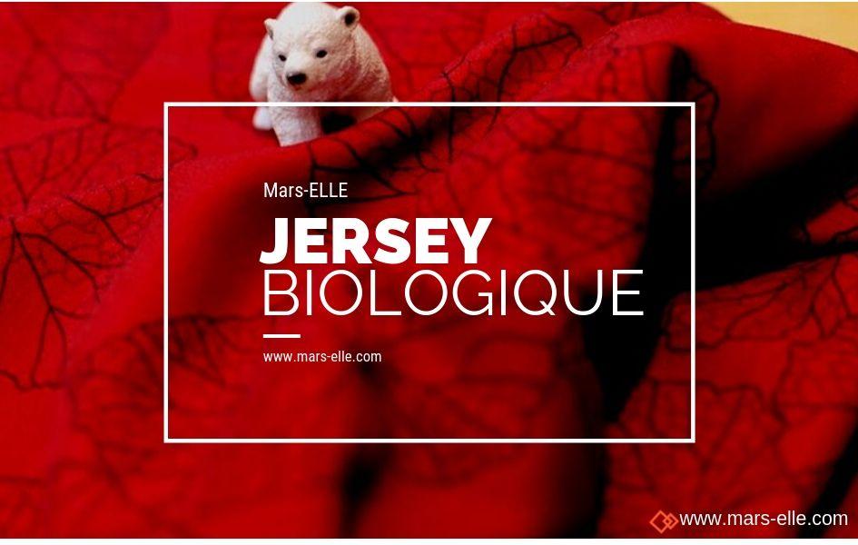 jersey bio interlock imprimé rouge bordeaux coton biologique mars-elle