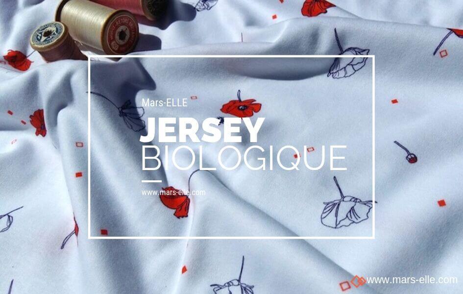 jersey coquelicot tissu bio interlock biologique mars-elle