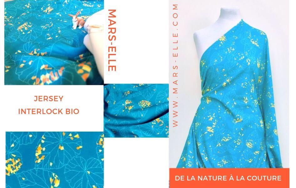 jersey interlock bio bleu canard mars-elle