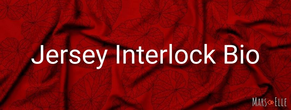 jersey interlock imprimé tissu bio mars-elle bordeaux