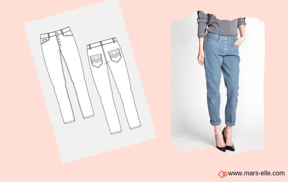 Jeans Named Jeans brut sans élasthanne denim 100% coton tissu non-stretch