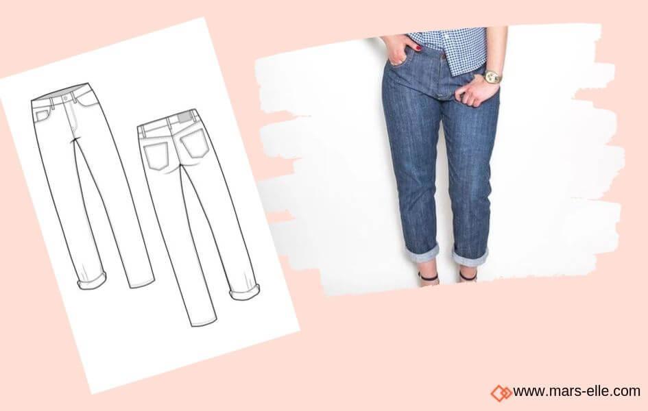 patron closet case pattern patrons de Jeans brut sans élasthanne denim 100% coton tissu non-stretch
