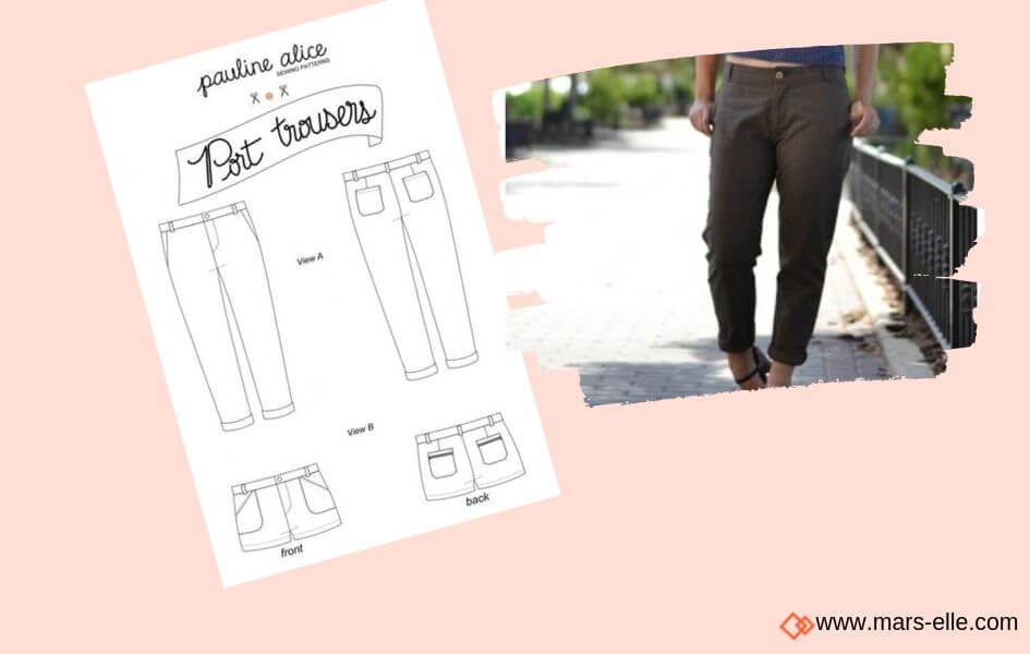 patron pantalon port patrons de Jeans brut sans élasthanne denim 100% coton tissu non-stretch