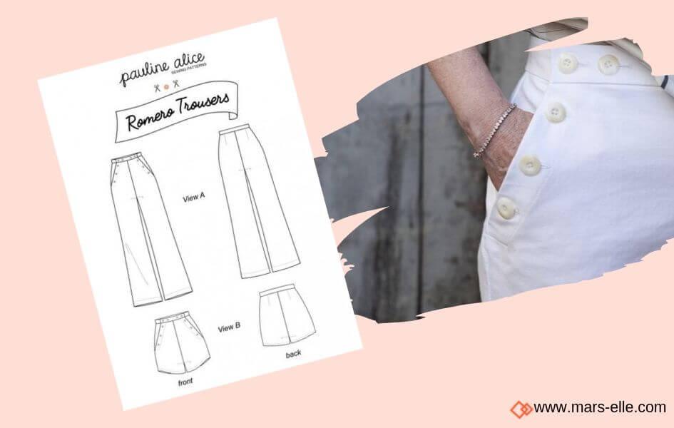 patron couture romero patrons de Jeans brut sans élasthanne denim 100% coton tissu non-stretch