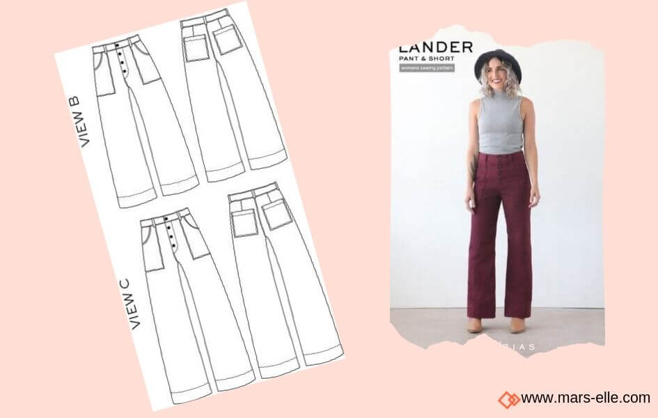 patron couture pantalon patrons de Jeans brut sans élasthanne denim 100% coton tissu non-stretch