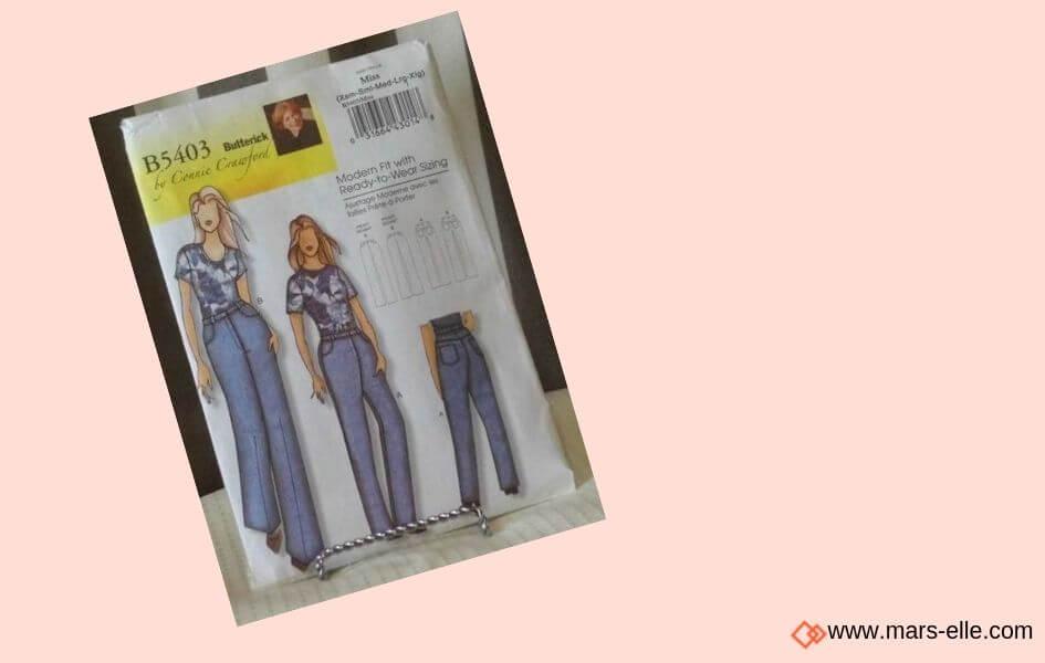 patron couture vintage patrons de Jeans brut sans élasthanne denim 100% coton tissu non-stretch