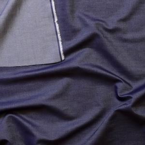 tissu bio chambray coton biologique indigo denim léger Mars-ELLE