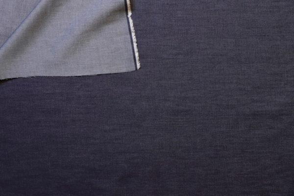 tissu bio chambray coton indigo Mars-ELLE
